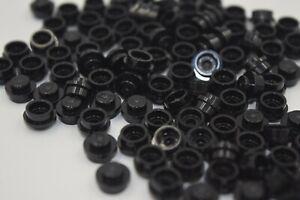 New Lego Lot Of  100 1X1 Round Black Caps Dots