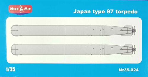 1:35 scale model kit Details about  /Mikro Mir 35-024 Japan type 97 torpedo 2 torpedo