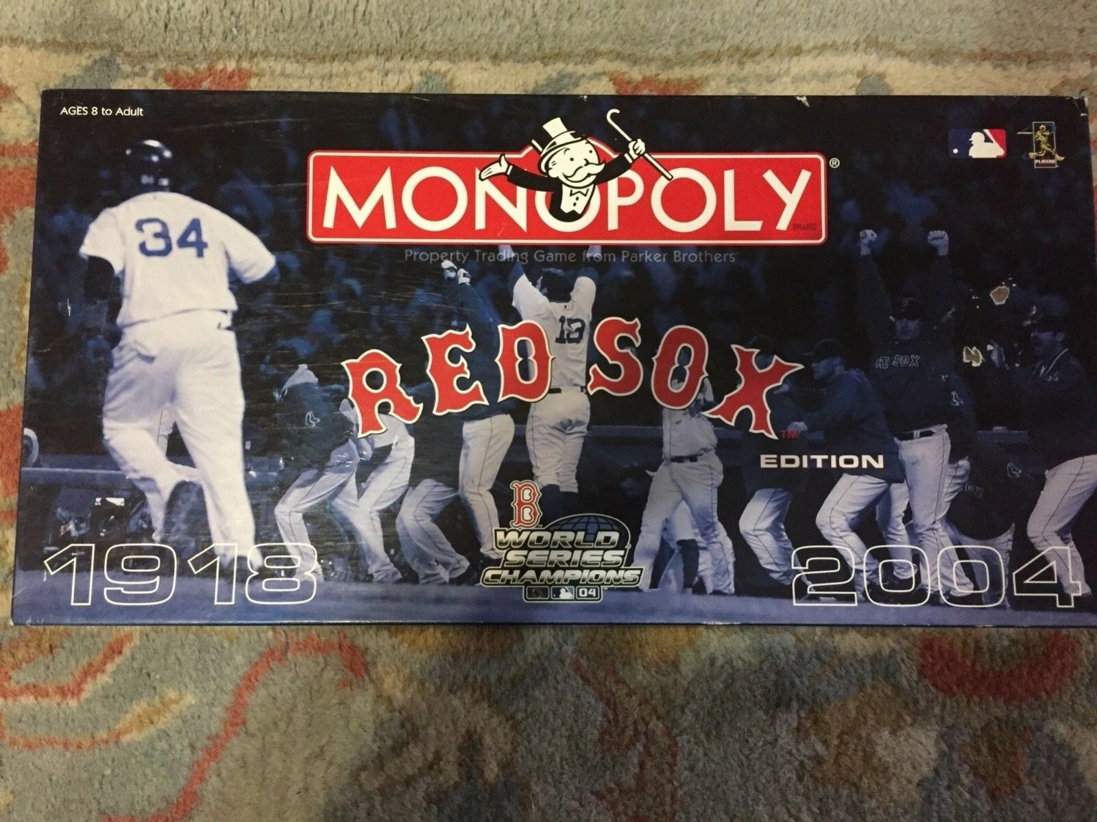 Game Monopoly Boston Red Sox World Champs 2004 Parker Bredhers