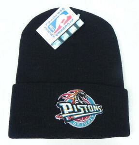 DETROIT-PISTONS-NBA-VINTAGE-BLACK-CUFFED-KNIT-RETRO-BEANIE-WINTER-CAP-HAT-NEW