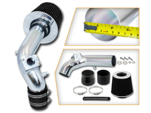 Ram Air Intake System BLACK Dry Filter for Mitsubishi 08-14 Lancer 2.0L 2.4L L4