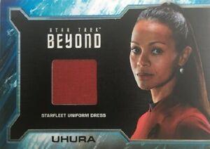 Details About Star Trek Beyond Sr3 Relic Card Zoe Saldana As Uhura Wardrobe Material