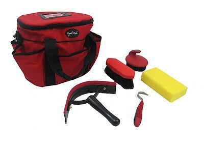 Knight Rider Cavallo / Pony Rosso Grooming Kit, Completa Con Sacchetto E Accessori- Evidente Effetto