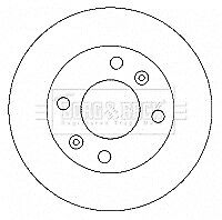 QH BDC5406 Front Axle Internally Vented Pair of  Brake Disc