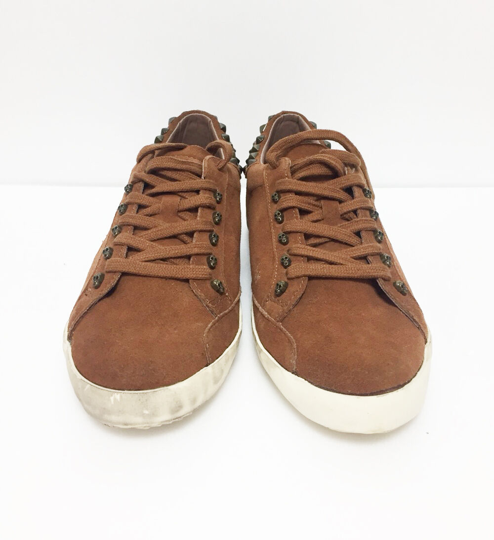 Stud Sneakers Damens Flat Schuhes Braun Farbe Größe New EU 38 US 8 New Größe Without Tag 28a483