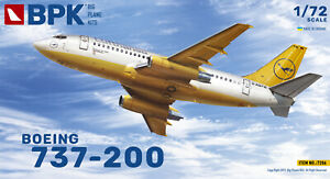BPK-7206-1-72-Aircraft-Boeing-737-200-Lufthansa-Plastic-Model-Kit