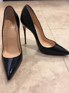 9a5db7522499 Image is loading CHRISTIAN-LOUBOUTIN-So-Kate-Pumps-Black-size-38-
