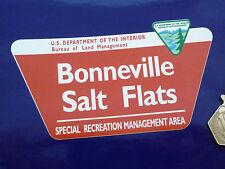 """Bonneville Salt Flats etiqueta engomada de 5 """"Moto Motocicleta De Carreras De Coches Clásico Retro"""