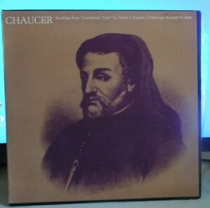 Chaucer-Readings-from-Canterbury-Tales-by-Victor-Kaplan-w-Booklet-VG-VG