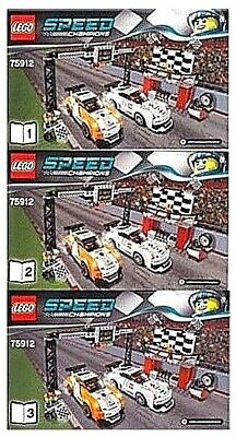 LEGO 75912 NEW Instruction Books for Porsche 911 GT Finish Line Speed Manual 3