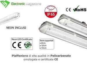 PLAFONIERA IP65 SINGOLA PER TUBI LED 120 CM