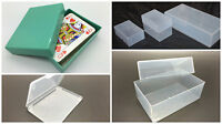 5 x Plastic Boxes Stationery Business cards A4 A5 A6 DL COMP PLAYING CARDS