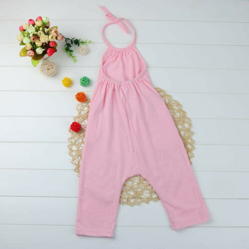 Toddler Kids Baby Girl Strap Romper Jumpsuit Harem Pants Outfit Clothes CW