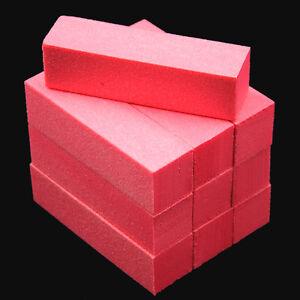 10Pcs-Pink-Nail-Art-Buffer-File-Block-Pedicure-Manicure-Buffing-Sanding-Polish