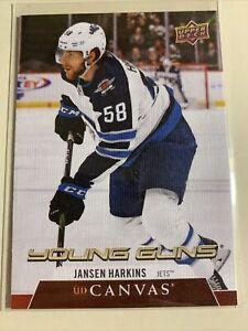 2020-21 Upper Deck Series 2 UD Canvas Young Guns rookie C216 Jansen Harkins