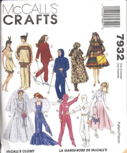 7932 UNCUT McCalls Sewing Pattern Barbie 11.5 Doll Clothes Jacket Pants Top NEW