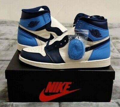 Nike Air Jordan Retro I 1 HIGH OG Obsidian UNC Sail University Blue  555088-140 | eBay