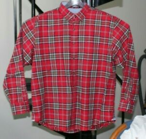 IZOD Mens Big and Tall Stratton Long Sleeve Button Down Plaid Flannel Shirt