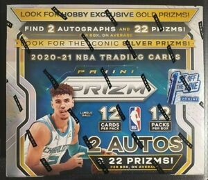 2020-21 Panini Prizm Basketball Hobby Box Factory Sealed FIRST OFF THE LINE FOTL
