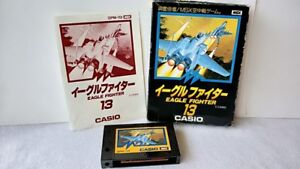 EAGLE-FIGHTER-MSX-MSX2-Game-Cartridge-Boxed-set-tested-a515