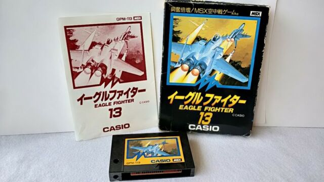 EAGLE FIGHTER MSX MSX2 Game Cartridge Boxed set tested -a515-