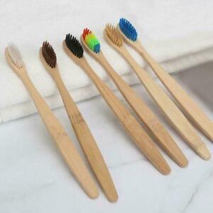 1pc-Bunter-Kopf-Holz-Regenbogen-Bambus-Zahnbuerste-amp-Mundpflege-Weiche-Borst-J0P6
