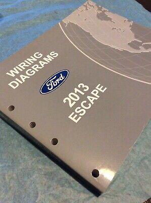 2013 Ford Escape Electrical Wiring Diagram Service Shop Dealer Repair Manual Ebay