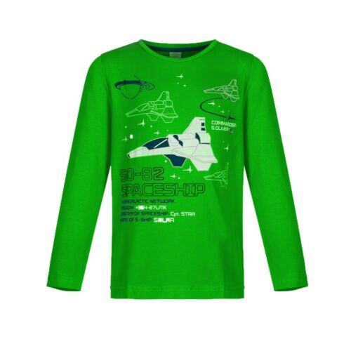 8 anni Ragazzi Top a Maniche Lunghe Rosso Verde Blu Scuro Color Foglia Di Tè ASTRONAVI 18 mesi