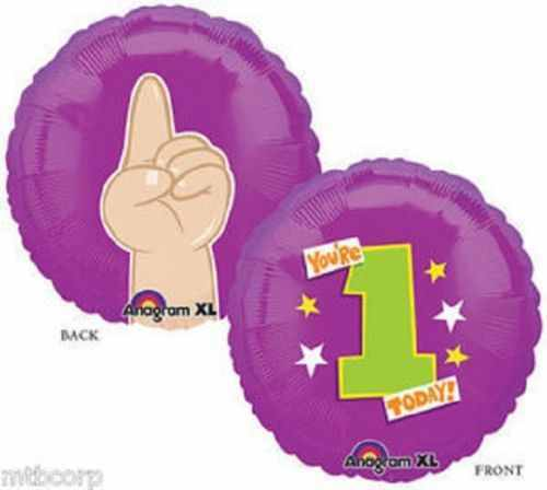 1st FIRST BIRTHDAY Purple//Green Your/'re ONE Today Party Mylar Balloon Decor