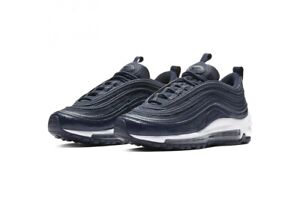 Nike-AIR-MAX-97-GS-UK-5-5-US-6-EU-38-5-Ossidiana-Bianco-921522-404