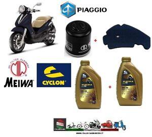KIT-TAGLIANDO-PIAGGIO-BEVERLY-300-IE-2010-2011-2012-OLIO-5W40-FILTRI