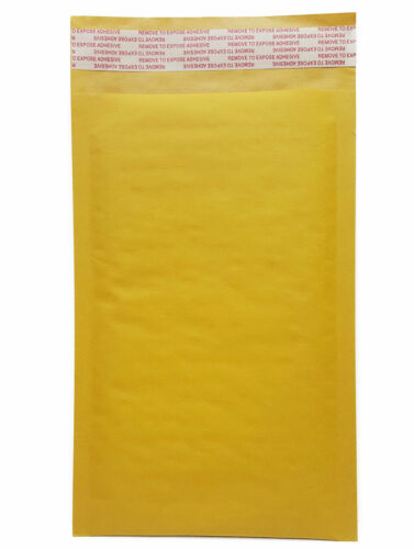 """5/"""" x 9/"""" #00 Kraft Bubble Mailers Shipping Envelopes 5-pack 10-pack 20-pack"""