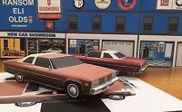 Papercraft Oldsmobile 98 Regency 2 Dr Beige/brown Papercar Ezu-build 1976 Toycar