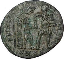 CONSTANS Constantine I  son Soldier Barbarian ANCIENT Ancient Roman Coin i23141