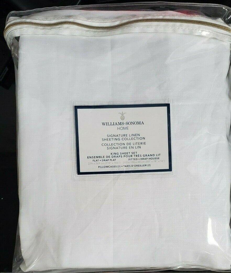 Signature Linen Sheet Set,White