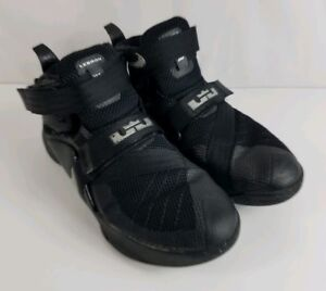c5fb450618a Nike LeBron James Soldier IX Black Silver Youth Shoes 776471-001 ...