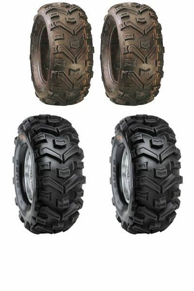 Pair Of Duro Buffalo Quad Tyres 25x10x12 E Marked Road Legal 6 Ply
