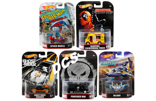 Hotw Heels Retro Unterhaltung 2018 Set 5 Deadpool Spider 1//64 Dmc55-956h