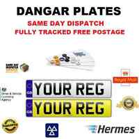 PAIR FRONT REAR GB Standard Number Plates 100% MOT ROAD LEGAL FAST DELIV Car/Van