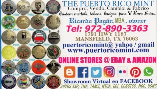 $1 EL CONQUISTADOR White Blue Casino FAJARDO Puerto Rico Poker Chip H/&C CJ old