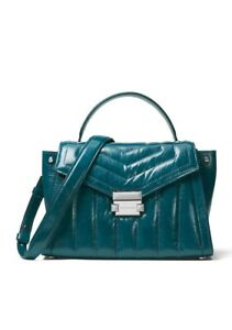 e49b5d9c8e4a30 Image is loading MICHAEL-KORS-Whitney-Medium-Quilted-Leather-Satchel-color-