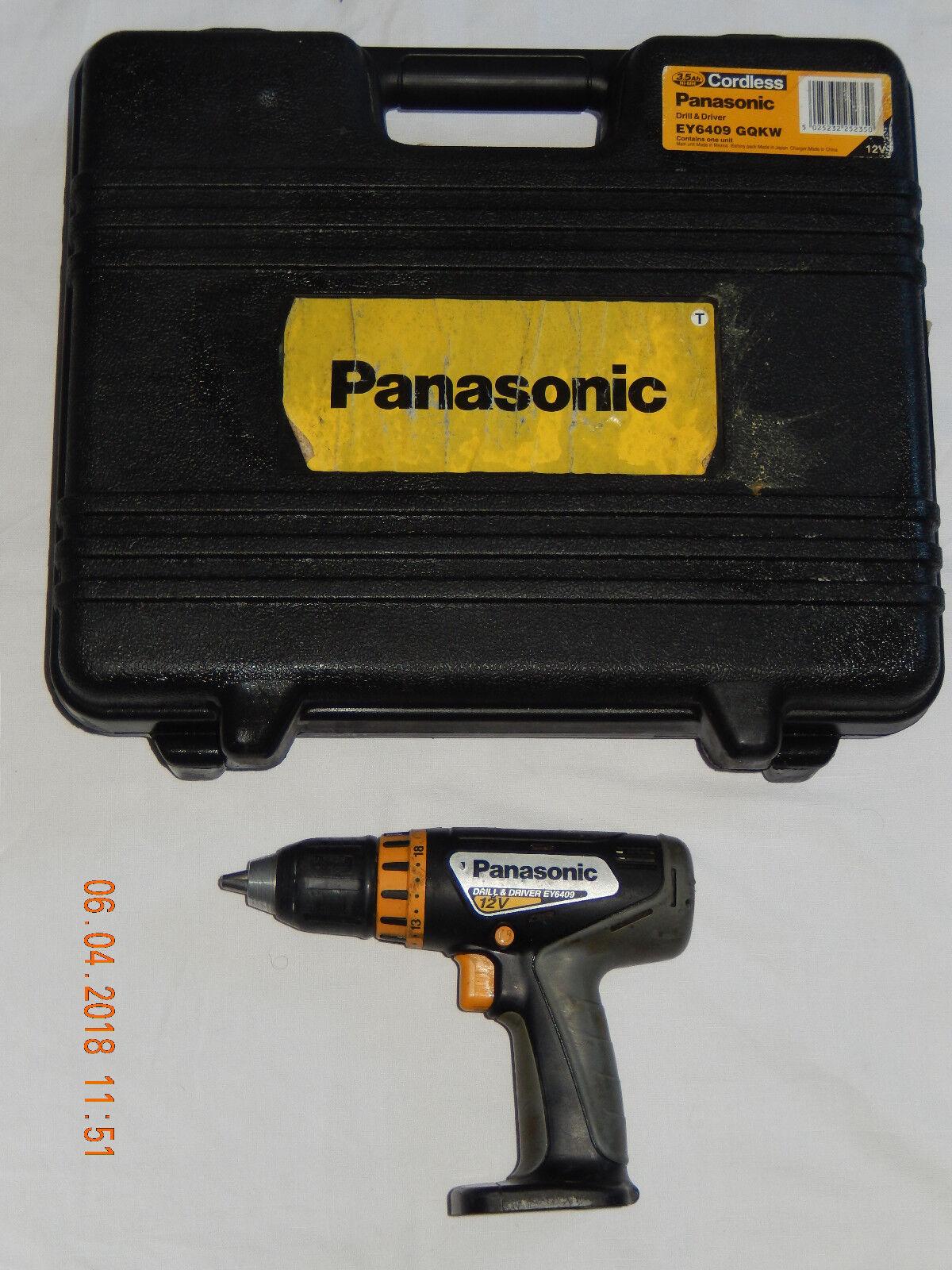 PANASONIC EY6409 GQKW 12V PROFI-Akkuschrauber ,100% OK+Koffer