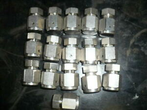"1/4"" VCR cap plug assembly, lot of (16) pairs"