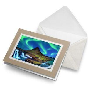 Greetings-Card-Biege-Kirkjufell-Iceland-Aurora-3400