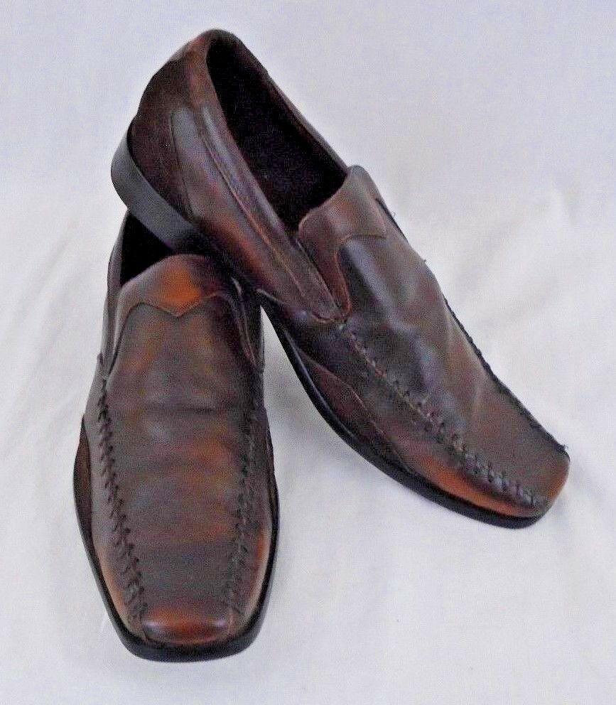 Stacey Adams Mens Used Size 8 1\2 Brown Leather Soft Cushion shoes