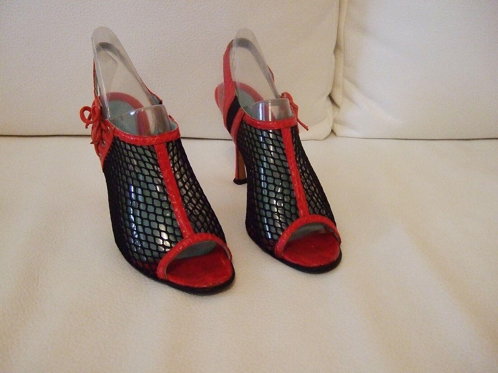 Brian Atwood Damenschuhe Größe 39,5 Farbe Rot-Schwarz