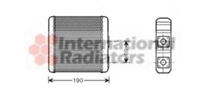 Wärmetauscher Innenraumheizung van Wezel 13006139