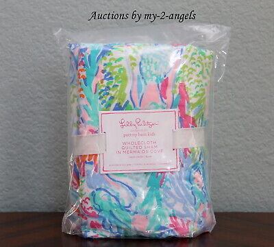 New Pottery Barn Kids Lilly Pulitzer Mermaid Cove Quilt Ed