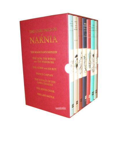 The Chronicles of Narnia 7 Books Box Set Collection C S Lewis Pauline Baynes