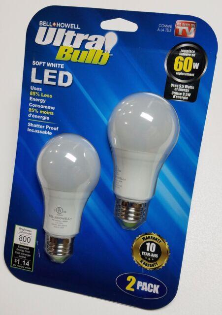 Ultra Bulb 10 Year Led Bulb 2 Pack 60 Watt Equivalent As Seen On Tv